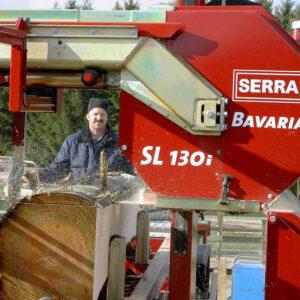 Instalatie de debitat busteni cu panza panglica orizontala - model Bavaria SL 130i