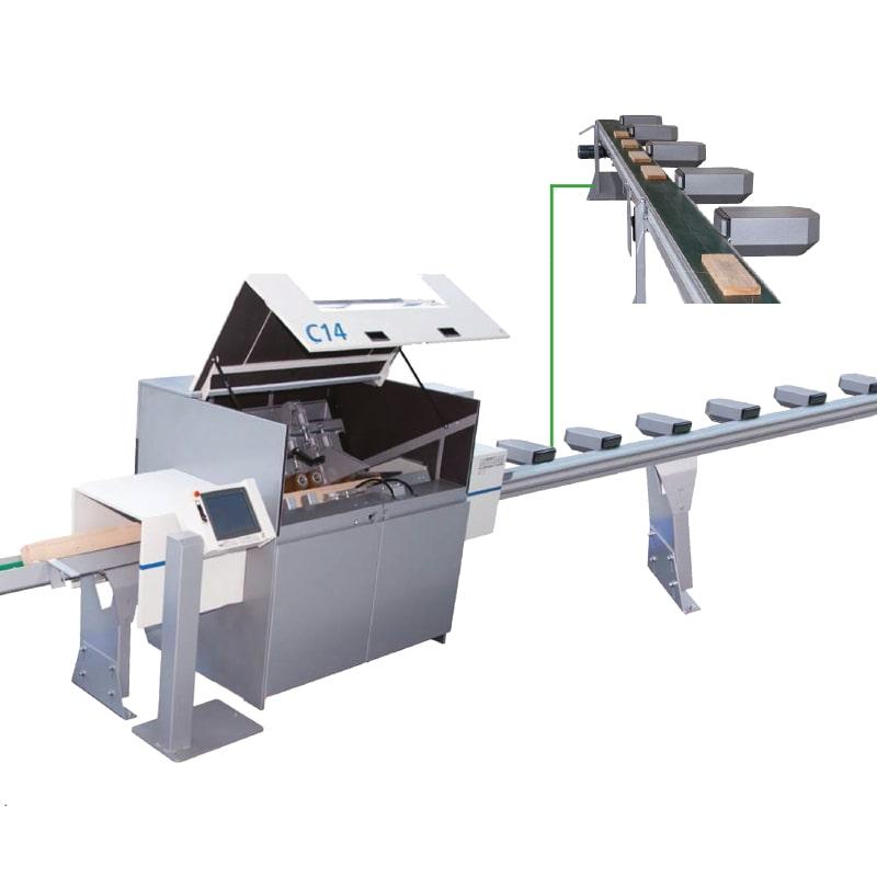 Linie de sortare cherestea cu optimizare - Paul Maschinenfabrik
