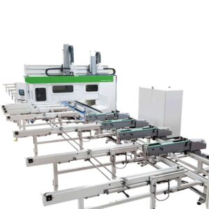 CNC Industrial pentru productie grinzi stratificate si curbe - UNITEAM UT