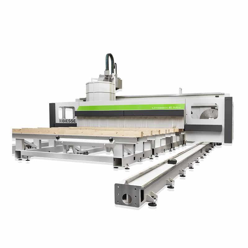 CNC productie pereti CLT - Biesse UNITEAM E MIX