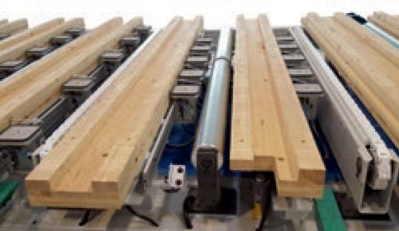 CNC productie pereti CLT - Sistem de fixare cu vid