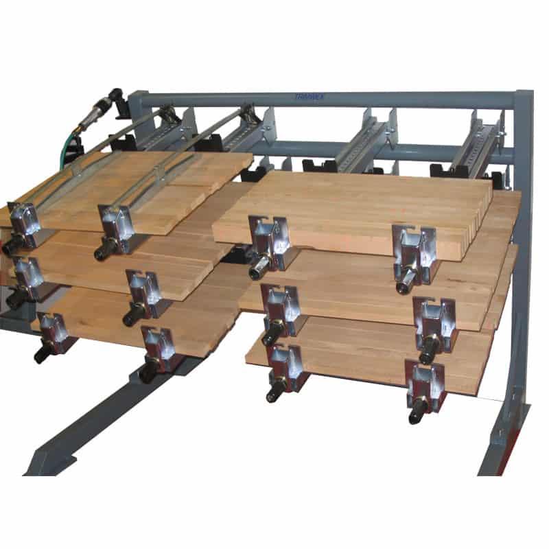 Presa lemn orizontala cu strangere pneumatica - model SL-P-R