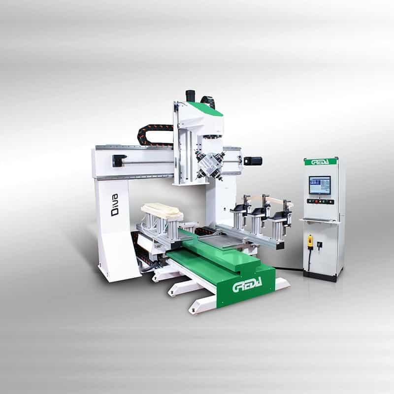 CNC lemn 5 axe interpolate pentru productia de elemente de mobilier, industria auto, instrumente muzicale sau echipamente sportive