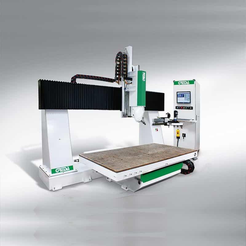 Router CNC lemn in 5 axe interpolate proiectat pentru o prelucrare simpla sau complexa a pieselor din industria automobilelor, mobila, instrumente muzicale.