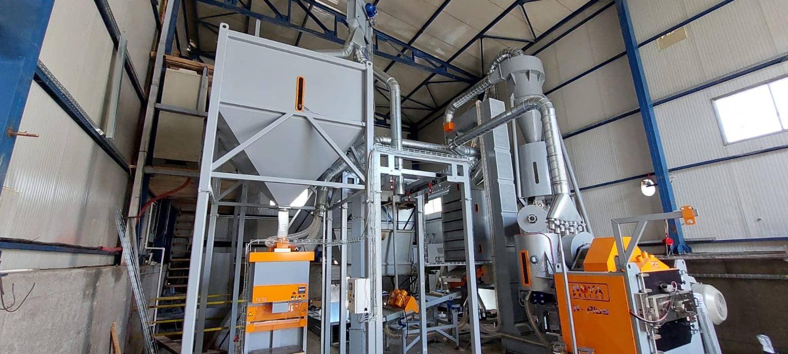 Linie peleti capacitate 2 tone pe ora judetul Neamt