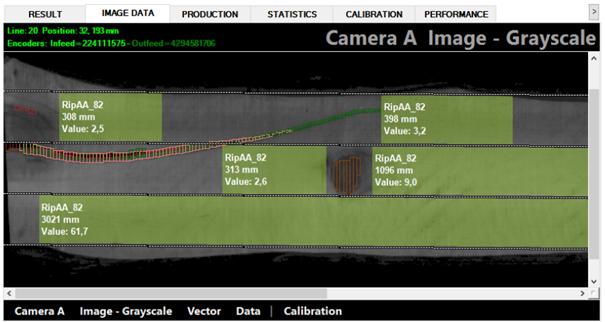 Sistem de scanare cherestea tivita - Rezultatele scanarii