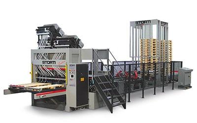 Linie productie paleti complet automatizata